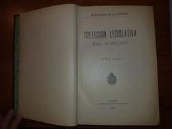 LIBRO LESGISLACIÓN DEL EJÉRCITO AÑO 1908
