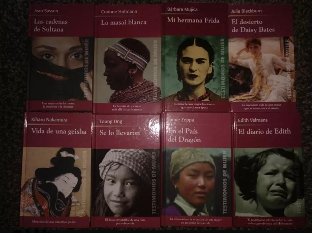 30 libros Testimonio de mujer