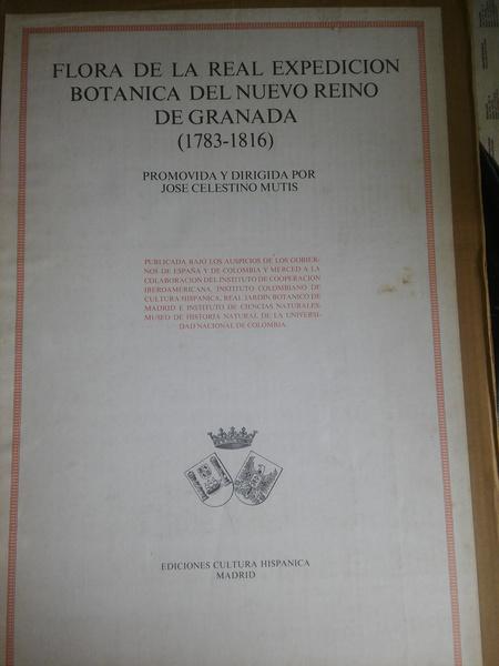 FLORA DE LA REAL EXPEDICIÓN BOTÁNICA DEL NUEVO REY