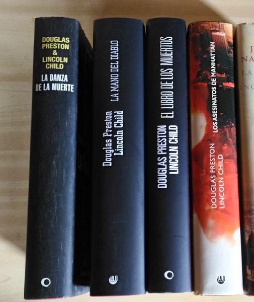 4 libros de Douglas Preston y Lincoln Child