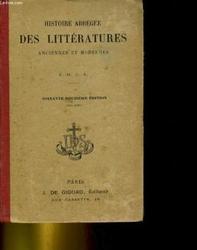 Histoire Abrégée des littératures anciennes et mod
