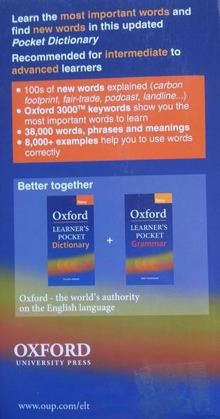Dictionary Oxford Learner´s Pocket Diccionario