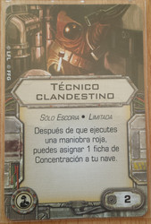 Técnico clandestino - Carta