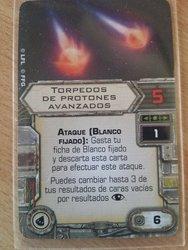 Torpedos de protones avanzados - Carta