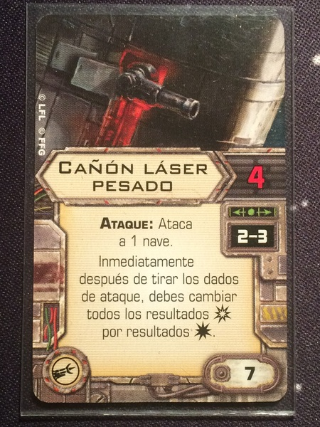 Cañon Laser Pesado carta de mejora