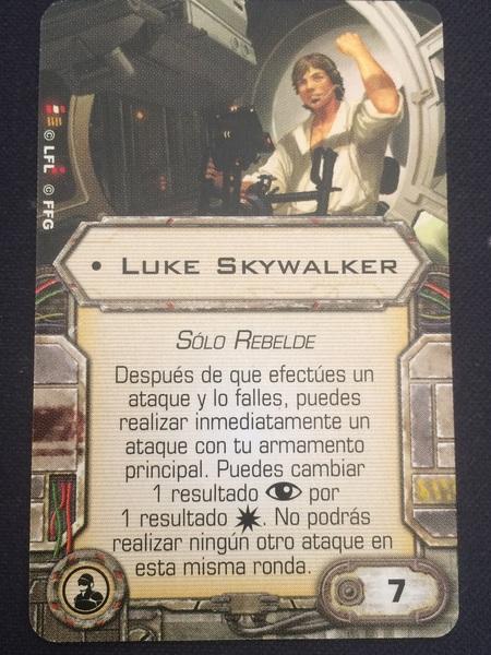 Luke Skywalker carta de mejora