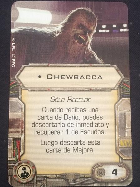 Chewbacca carta de mejora
