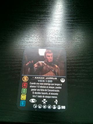 Carta Kanan Jarrus Piloto VCX-100 Alternativa No O