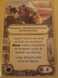 Droide astromecánico remendado