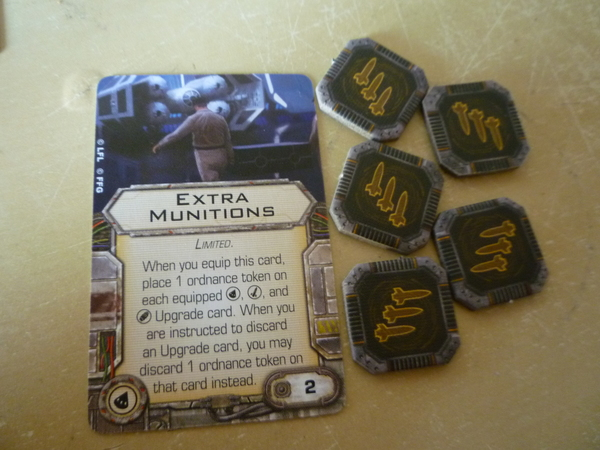 Extra Munitions (ingles carta y 5 fichas)