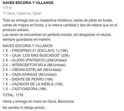 NAVES SCUM / ESCORIA Y VILLANOS