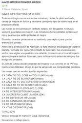 NAVES IMPERIO/PRIMERA ORDEN